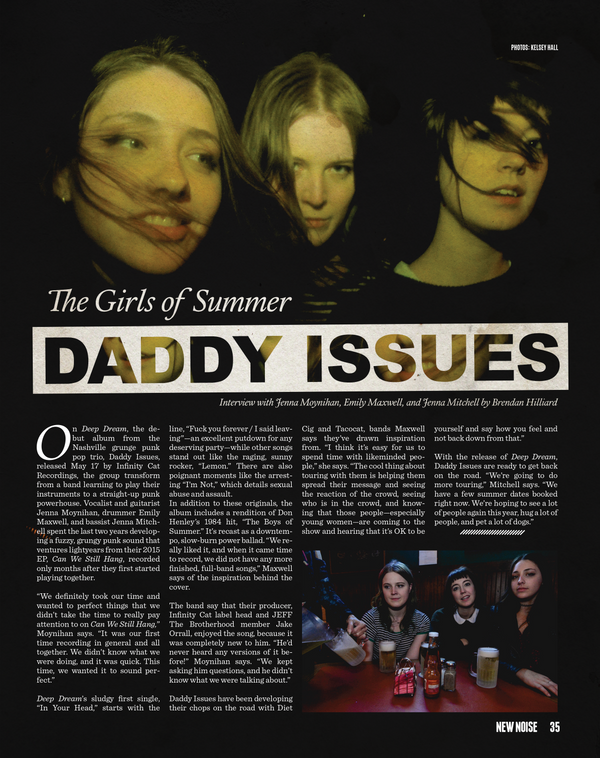 The Girls of Summer: Daddy Issues (New Noise Magazine, July 2017)